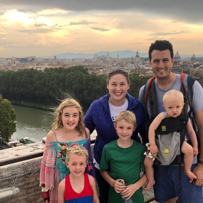 Jessica Ballinger with her family as seen in September 2019