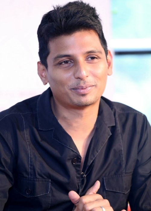 Jiiva as seen in a picture taken during meet and greet event for his film Yaan in September 2014