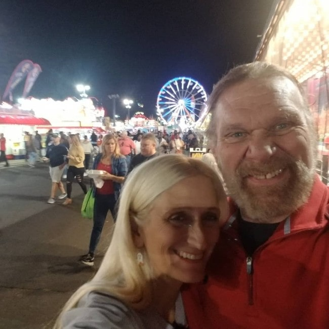 Jim Duggan with his wife Debra as seen in October 2019