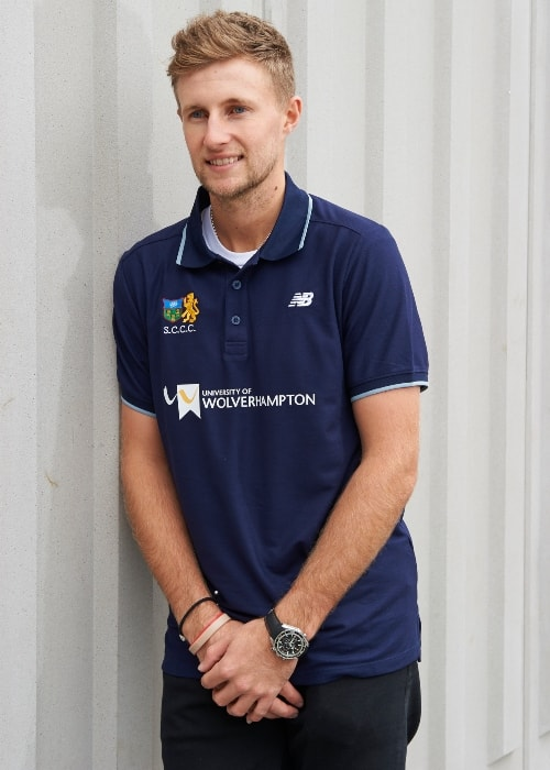 Joe Root as seen in a picture taken during his visit at the University of Wolverhampton in February 2017