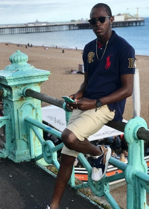 Jofra Archer as seen in a picture taken at Brighton Central Beach in July 2017