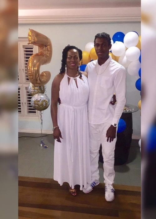 Jofra Archer as seen in a picture with his mother Joelle Waithe in a picture that was taken in March 2016