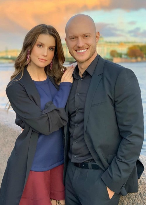 Johannes Bartl and Amanda Cerny as seen in October 2019