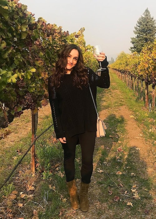 Jordyn Wieber as seen in a picture taken in Napa, California in November 2018