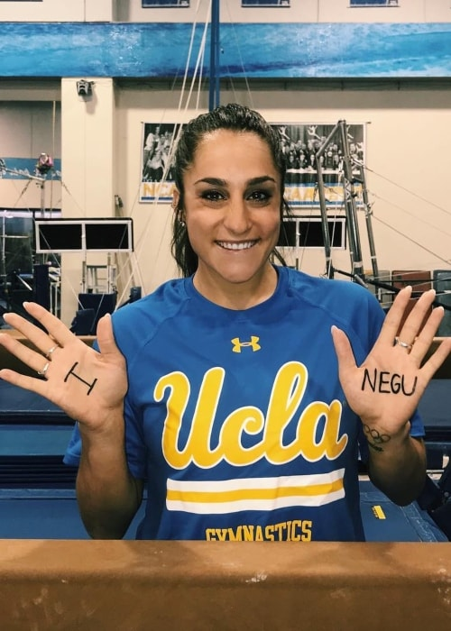 Jordyn Wieber as seen in a picture taken whilst showing her support to the #INegu movement in August 2019