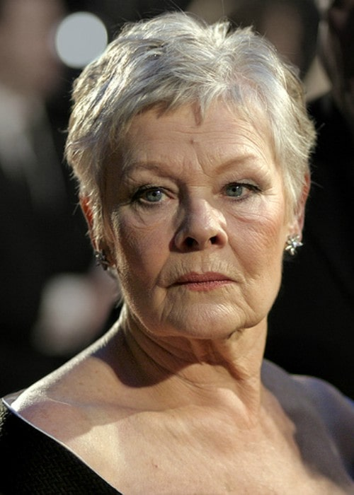 Judi Dench at the BAFTAs at the Royal Opera House in London in February 2007