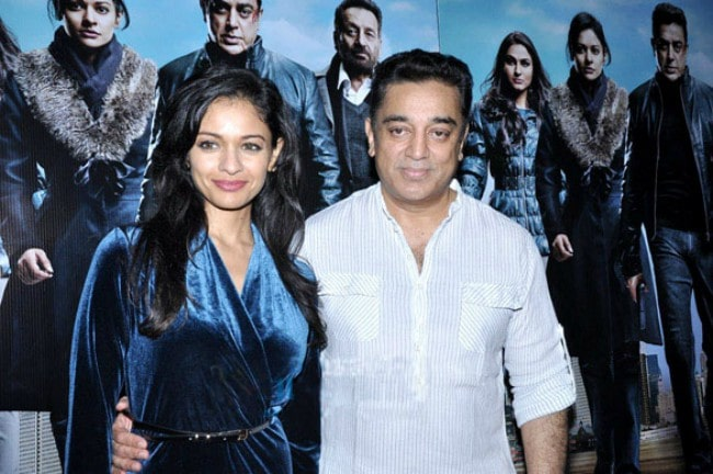 Kamal Haasan and Pooja Kumar as seen in 2013
