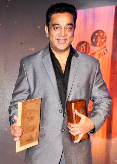 Kamal Haasan at Jagran Festival Awards in October 2013