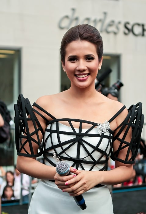 Karylle as seen while smiling in a picture taken in June 2011