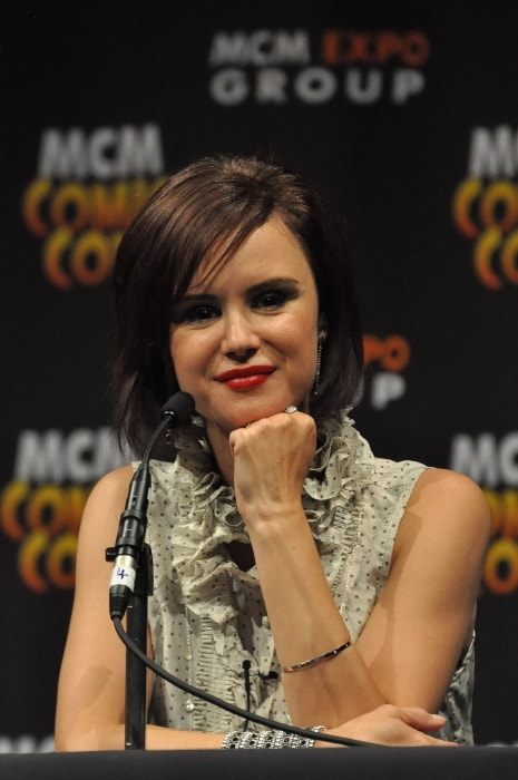 Keegan Connor Tracy as seen in a picture taken at MCM London Comic Con at the 'Once Upon A Time' panel in May 2013