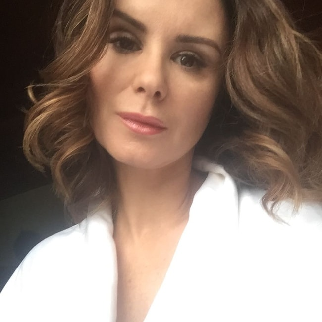 Keegan Connor Tracy as seen while taking a selfie in November 2018