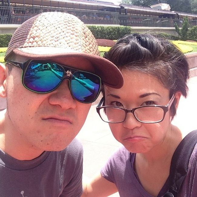 Keiko seen with her husband Shin Kawasaki in 2014