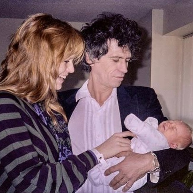 Keith Richards old photo with his wife Patti and daughter Theodora as seen in March 2019