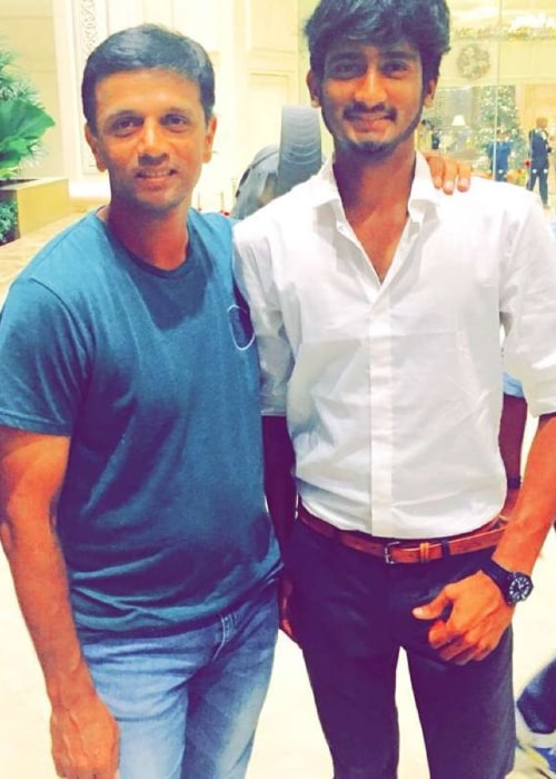 Khaleel Ahmed as seen in a picture with former cricketer and captain of the Indian national team Rahul Dravid at the Taj Samudra in December 2015