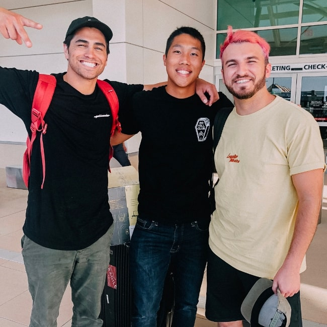 Khoa Nguyen as seen while posing for a picture along with Toddy Smith (Left) and Zane Hijazi (Right) in May 2018