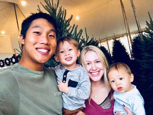 Khoa Nguyen as seen while taking a selfie with his family in November 2017