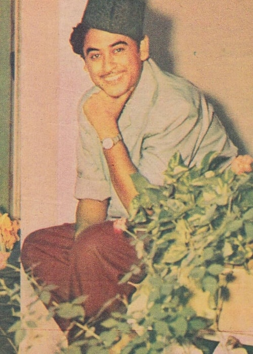 Kishore Kumar as seen in a picture taken during his younger days