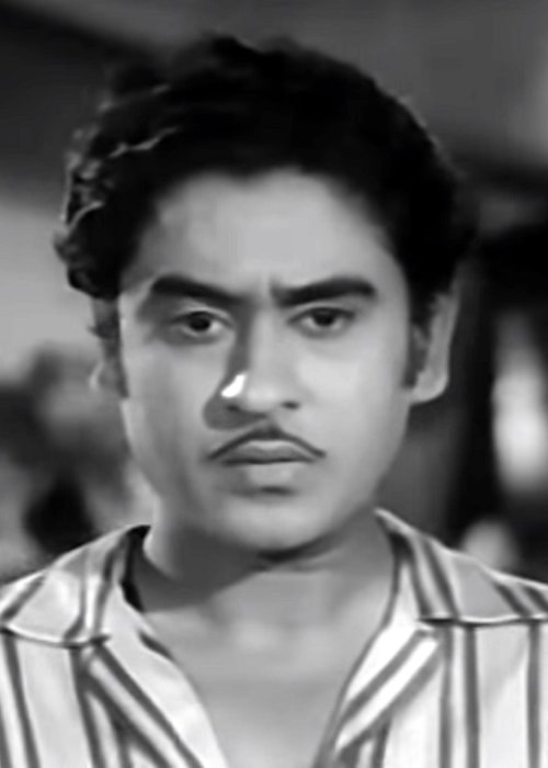 Kishore Kumar as seen in a still taken from his film Bhagam Bhag in 1956