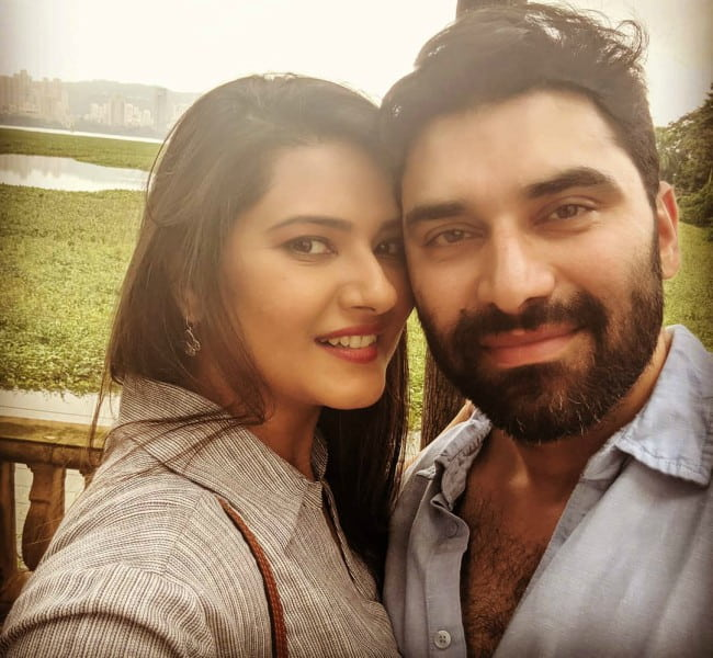 Kratika Sengar and Nikitin Dheer in a selfie in July 2019