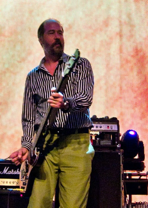 Krist Novoselic during a performance as seen in September 2011