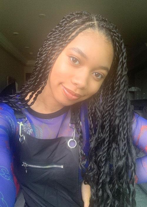 Kyla Drew Simmons as seen while taking a selfie in November 2019