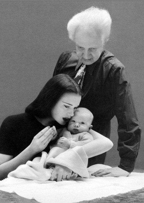 Leopold Stanislaus Stokowski with his mother Gloria Vanderbilt and father Leopold Stokowski