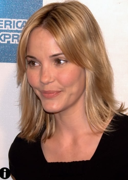 Leslie Bibb as seen in a picture taken at the May 2009 Tribeca Film Festival premiere of Moon