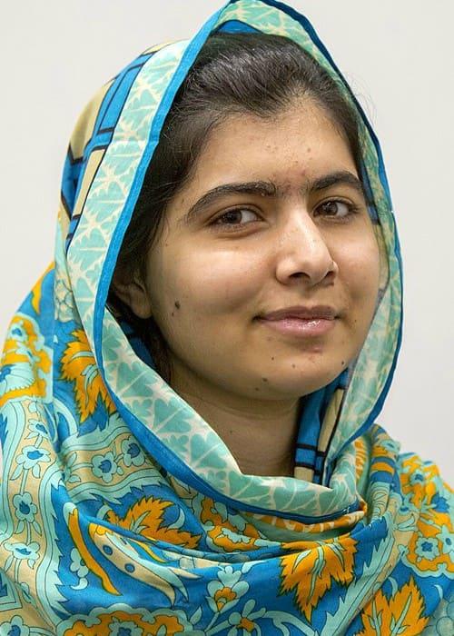 Malala Yousafzai at the International Development Secretary Justine Greening in October 2015
