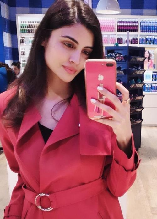 Malti Chahar as seen in a selfie taken in April 2019
