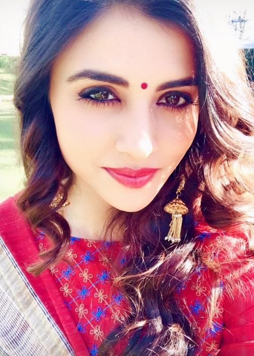 Malti Chahar as seen in a selfie taken in Mussoorie, Uttrakhand in March 2018