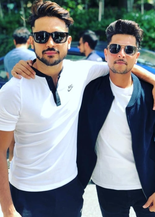 Manish Pandey as seen in a picture taken with Kuldeep Yadav in June 2018
