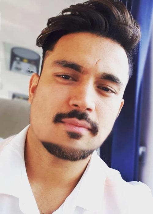 Manish Pandey as seen in a selfie taken in July 2018