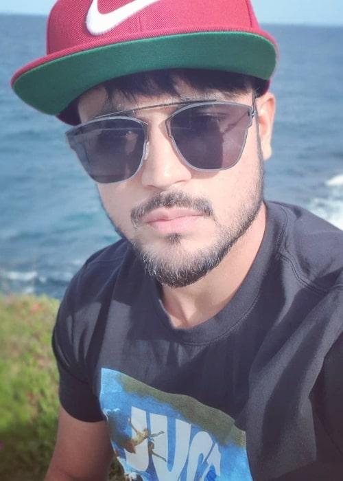 Manish Pandey as seen in a selfie taken in June 2019