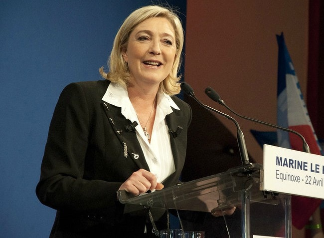 Marine Le Pen as seen in April 2012