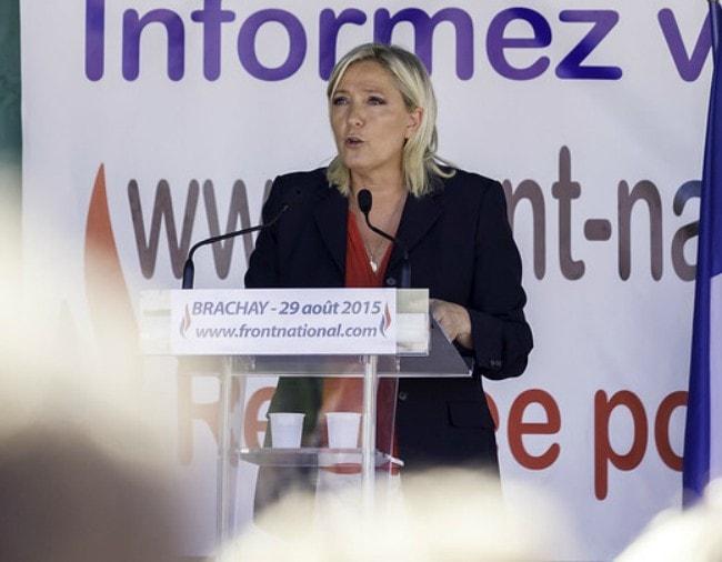 Marine Le Pen as seen in August 2015
