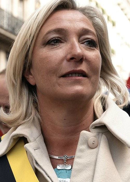 Marine Le Pen at the 1st of May National Front's rally in May 2010