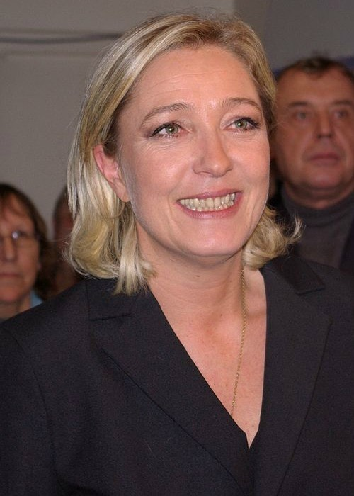 Marine Le Pen during an event in January 2008