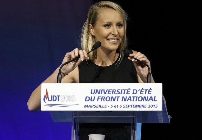 Marion Maréchal during an event in September 2015