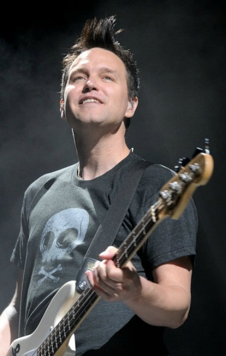 Mark Hoppus during a perfomance as seen in February 2012