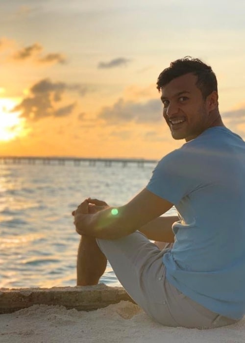 Mayank Agarwal as seen in a picture taken on the beach in September 2019
