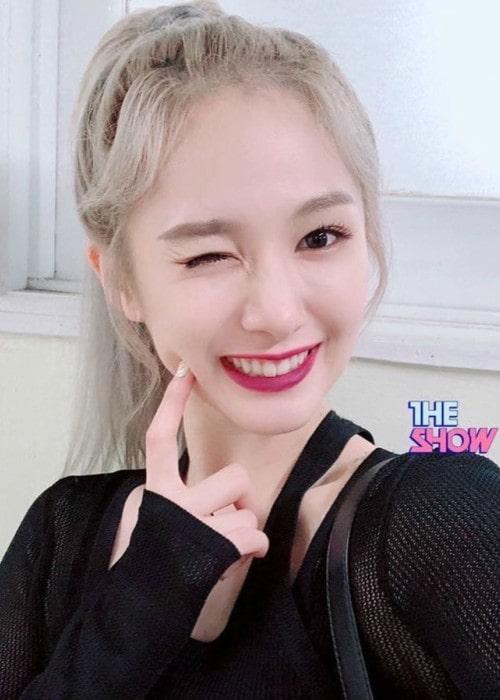 Mia in an Instagram selfie as seen in September 2019