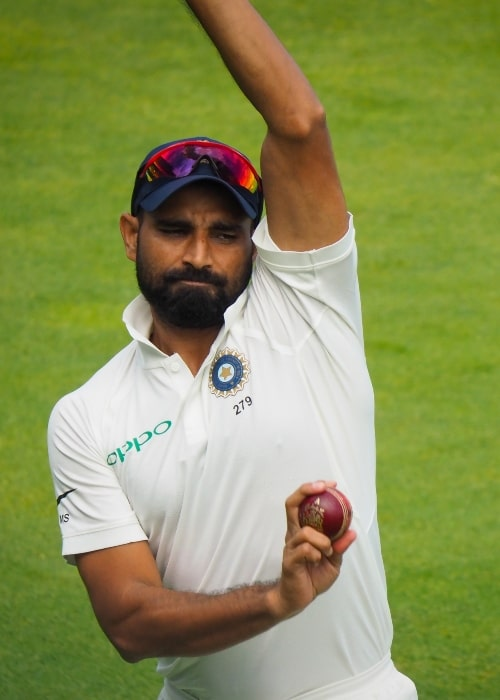 Mohammad Shami as seen in a picture taken while he was warming up before the third day of the 2018 first test between England and India in August
