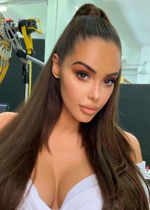Nabilla Benattia in an Instagram post as seen in September 2019