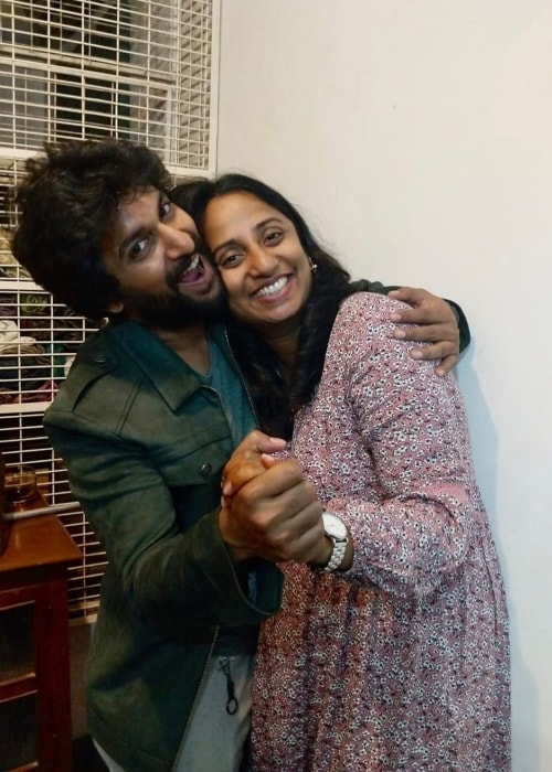 Nani as seen in a picture taken with his sister Deepthi Ganta in August 2019
