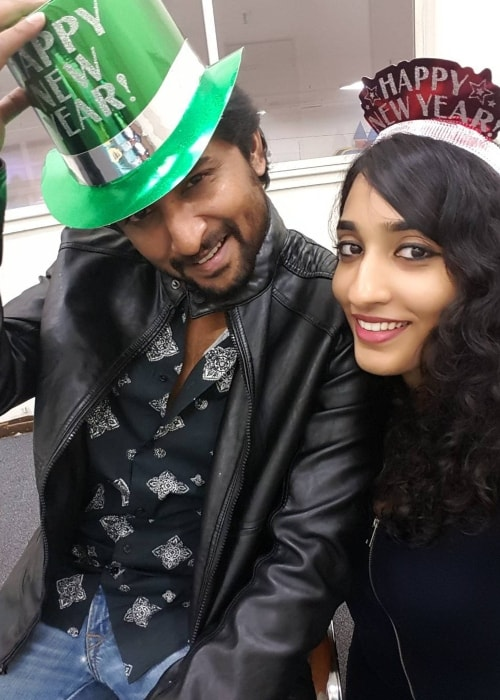 Nani as seen in a selfie taken with his wife Anjana Yelavarthy at Marriott Fremont Silicon Valley in January 2016