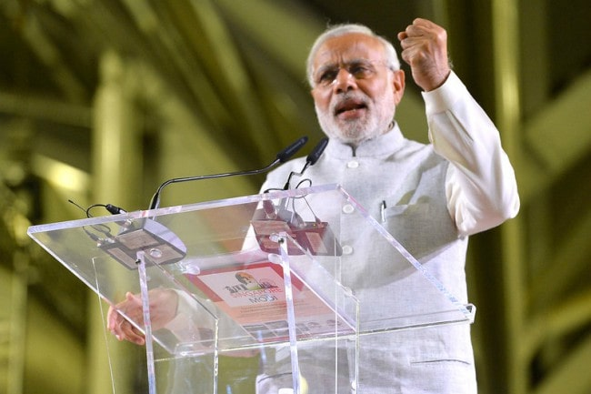 Narendra Modi in Singapore as seen in November 2015