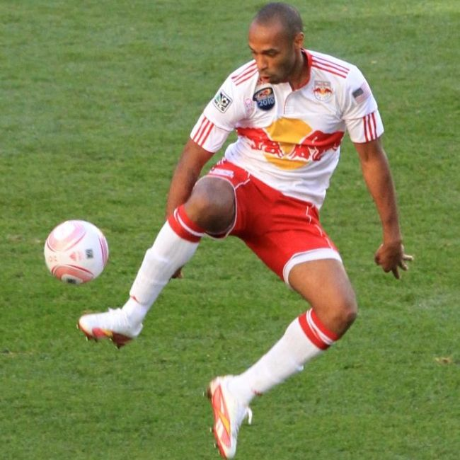 New York Red Bulls player Thierry Henry seen during a match against Real Salt Lake in 2011