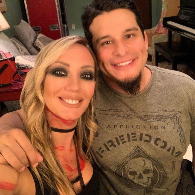 Nita taking a selfie with her boyfriend Josh Villalta in August 2019
