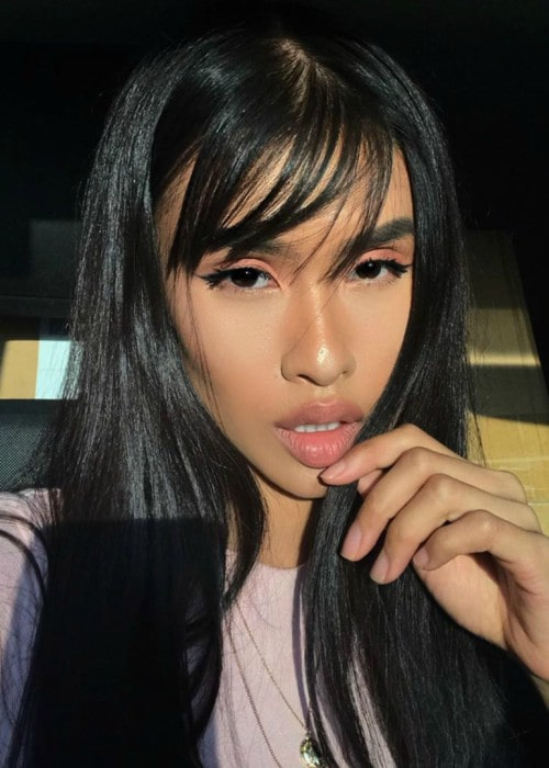 Nxshaya in an Instagram selfie as seen in September 2019