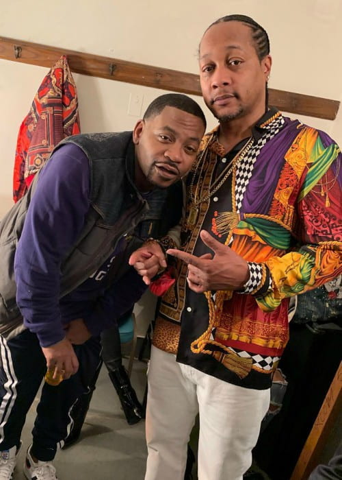Obie Trice (Left) and DJ Quik as seen in March 2019